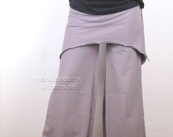 Palazzo pants with skirt