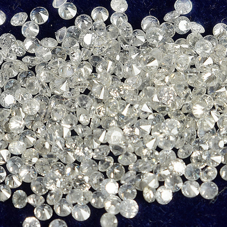 vvs fg 1 to 3 mm Lab Created cvd Round Calibrated DIAMONDS 50 PIECES LOT