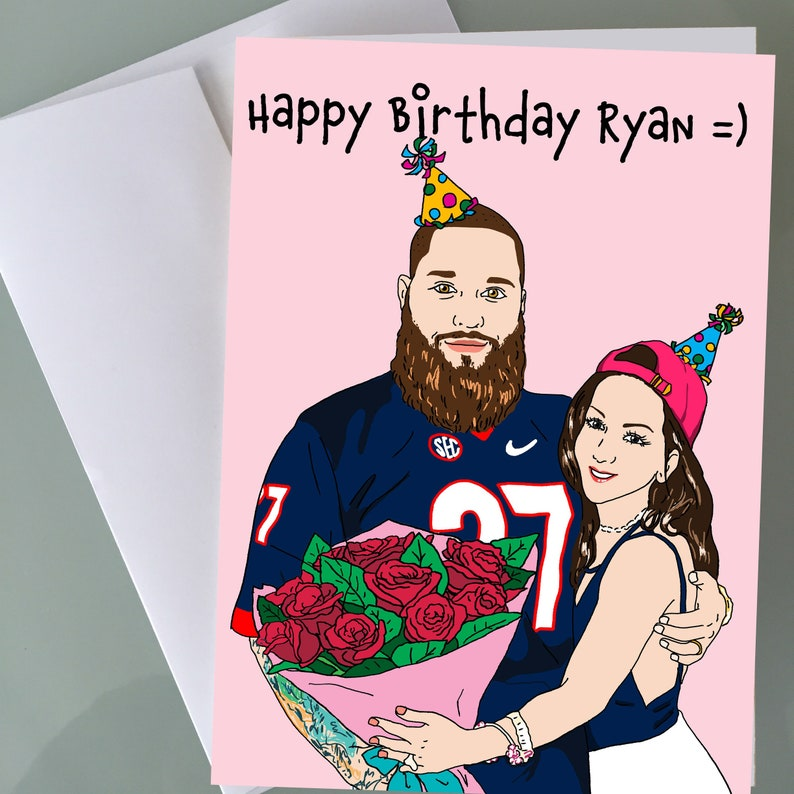 Custom Personalized Birthday Cards Funny Gifts Hip Hop Art Illustration Portrait