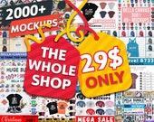 The WHOLE SHOP Bundle, 2000 Mockups, Shirt Mockups, Bella Canvas, Gildan, Next Level, Anvil, Women 39 s and Unisex Mockups, All Occasions