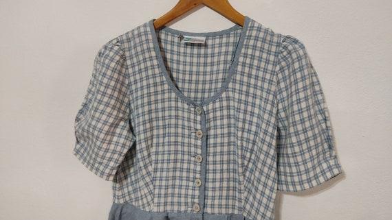 Flax Linen Midi Cottagecore Button Up Dress - image 2