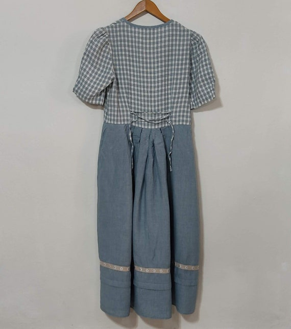 Flax Linen Midi Cottagecore Button Up Dress - image 5