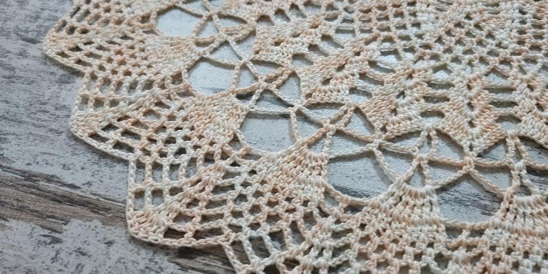 14 Vintage Handmade Crochet Pink Doily