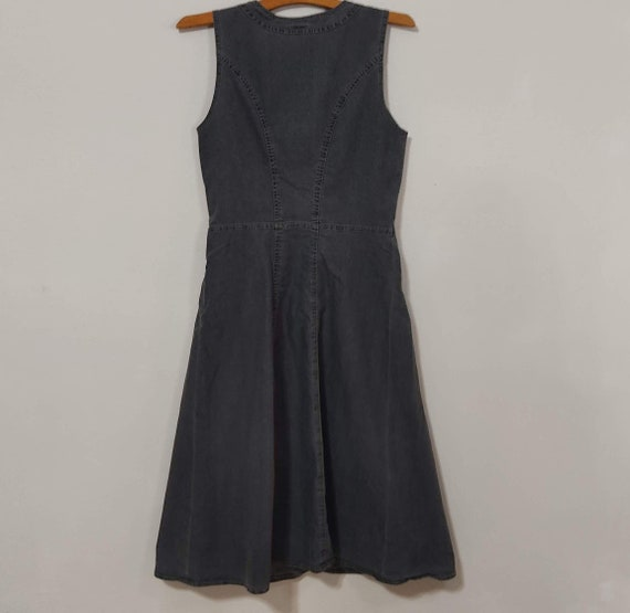 Vintage Cottagecore Modest Denim Tank Dress - image 5