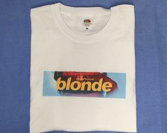 fac541ae5 Frank Ocean Blond Box Logo Hand Made Custom T Shirt
