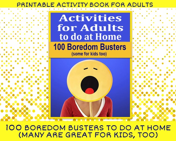 Activities For Adults To Do At Home Printable Activity Book Etsy