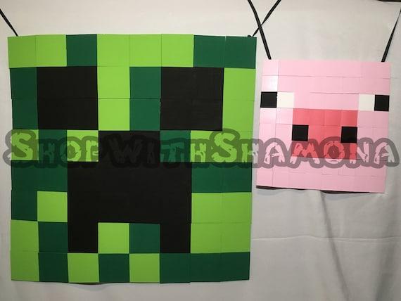 Items Similar To Diy Craft Inspired Pixel Art Minecraft