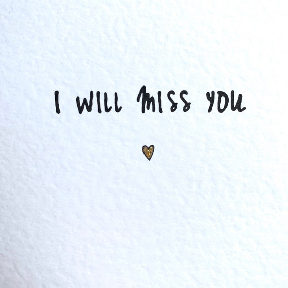 Image result for i will miss you