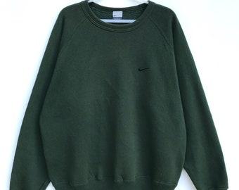 5fed577d6 Vintage Nike Small Logo Embroidered Sweatshirt (Large) / Vintage Sweatshirt  / Athletic / Aesthetic Clothing / Comfy