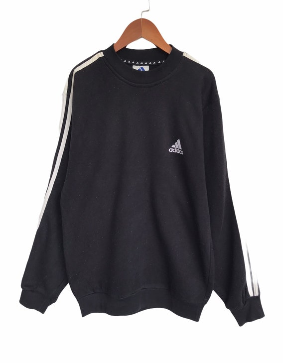 Vintage 90s Adidas Spell Out Embroidery Pullover S