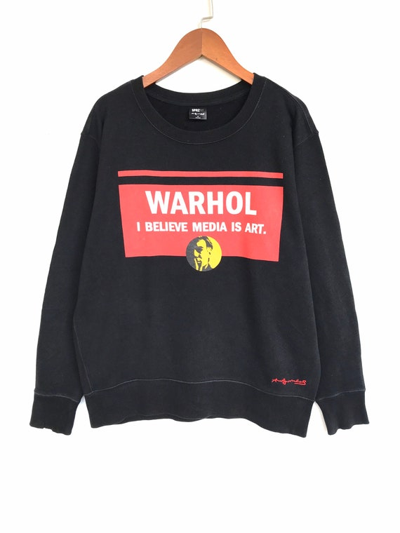 Andy Warhol Pop Art Media Pullover Sweatshirt (Med