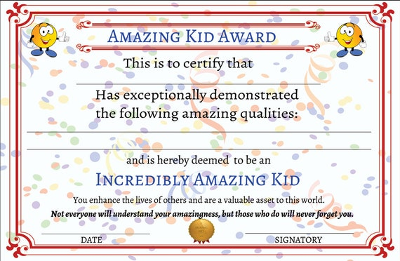 photo relating to Printable Awards for Students referred to as Extraordinary Youngster Award Printable Certification, Printable Awards for Children, Printable Awards for College students, Award Certification