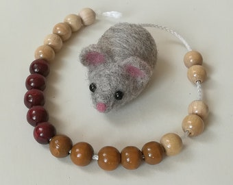 Counting mouse, calculating mouse, calculation chain, back-to-school gift