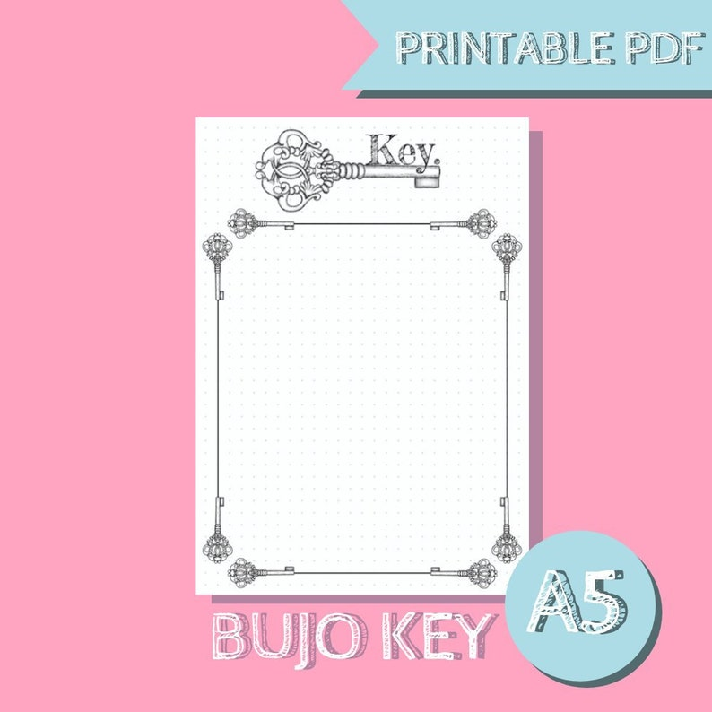 picture about Bullet Journal Key Printable identified as Bullet Magazine Primary (Bullet Magazine Printable) Planner Incorporate A5 PDF (Bujo Printables)