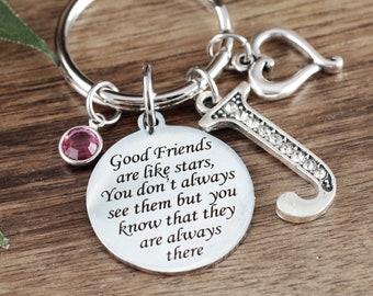Friendship Keychain, Best Friends Gift, Gift for Best Friend, Friends are like Stars Keychain, Besties Gift, Friend Gift, Friendship Gift