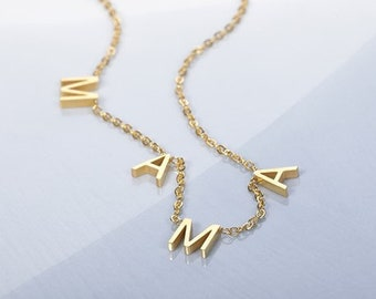 Personalized Mama Necklace, Gold Mama Necklace, Mama Jewelry, Gift for Mama, Mother's Day Gift, Baby Shower, Mom Necklace, New Mom Gift