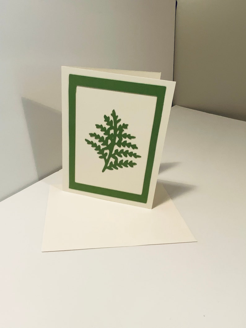 Assorted Fern Design Blank Note Cards