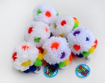 Colorful Gum Drop - Fashion Statement Ring Pom