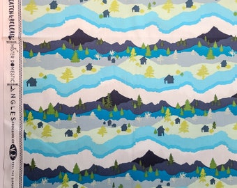 Art Gallery Fabric Catch & Release Mountain Scape by Mister Domestic - fabric DESTASH