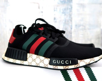 6c5bdcc7ffd Adidas Gucci nmd custom shoes style paint louis vuitton mens womens red  color athletic run sneakers and custom laces