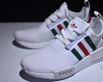769391028 Adidas Gucci white nmd custom shoes style paint louis vuitton mens womens  athletic run sneakers and custom laces and regular laces