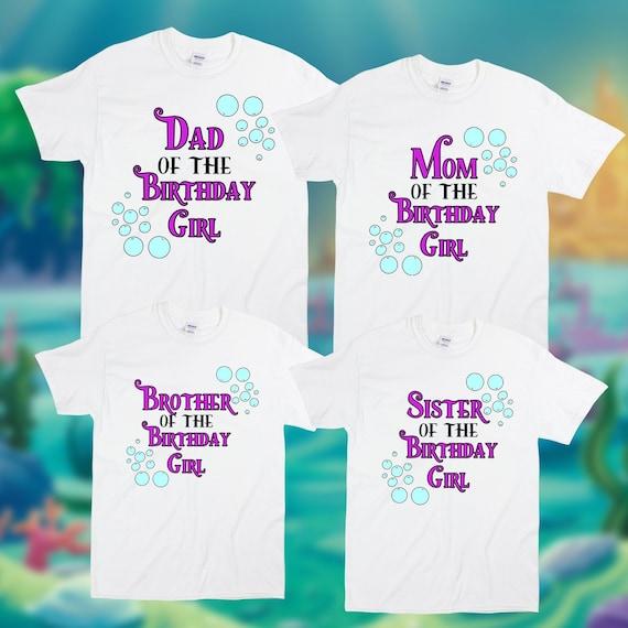 Personalized Little Mermaid Birthday Shirt Ariel Matching