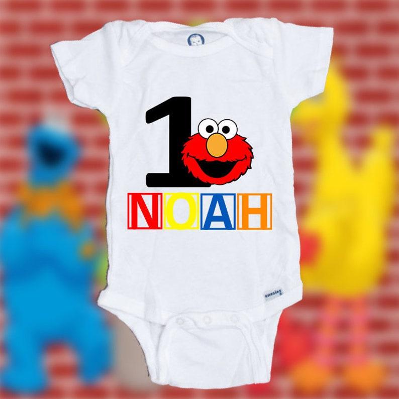Personalized Elmo Birthday Shirt 1st