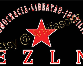Zapatista Army of National Liberation (3) Flag Banner 3x5Ft  Ejercito Zapata EZLN Chiapas Socialism Anti-Imperialism Communism