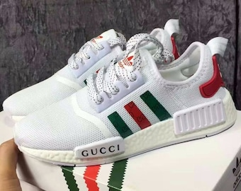 Adidas NMD x Gucci Unisex Custom Shoes white 815e94326a