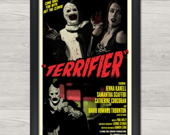 Terrifier 12x18inch Horror Movie Silk Poster Wall Door Decoration Art Print