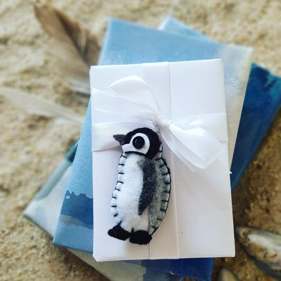 Pinguin Brosche, 2er Set