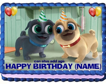 Puppy Dog Pals Cake Topper Edible Birthday Decoration