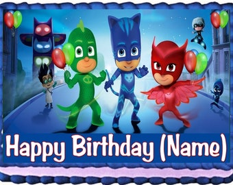 PJ Masks Cake Topper Edible Birthday Decoration