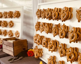 Pretzel Wall With Stand - Holds 32 - Pretzel Wall Wedding - Pretzel Wall Display - Pretzel Wall Stand - Pretzel Wall Large
