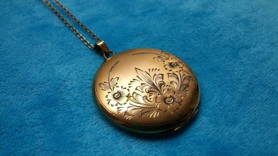 Liberty antique Art Nouveau gold-filed  locket, lo