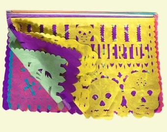 Papel Picado 420 cm Fiesta Mexicana Day of the Dead Day of dead Mexican decoration garland