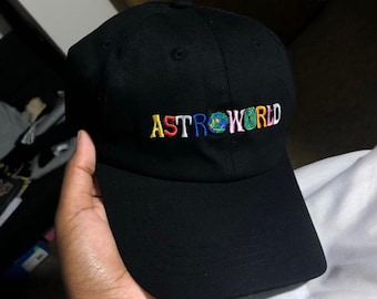 812b46dad867e6 Travis Scott Astroworld Hat Embroidered Tour I Went To Astro World Album Cap  Album Artist Music Merch Custom Stitch