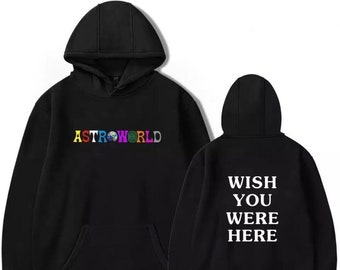 6acf1e36620a Travis Scott Astroworld Printed Hoodie Tour I Went To Astro World Album  Artist Music Merch Custom Pullover Jacket Coat Wish You Were Here