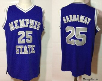 542eaf829 Anfernee Penny Hardaway Memphis State Tigers College Basketball Jersey  Throwback Retro University Blue Chips Orlando Magic