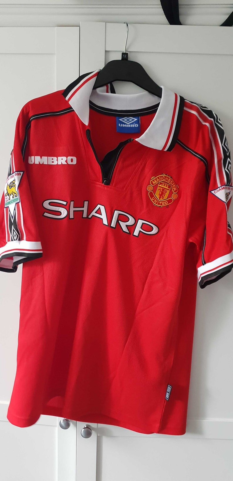 04a64d7ca Manchester United Jersey Man U Soccer 98 99 Beckham Shirt BPL