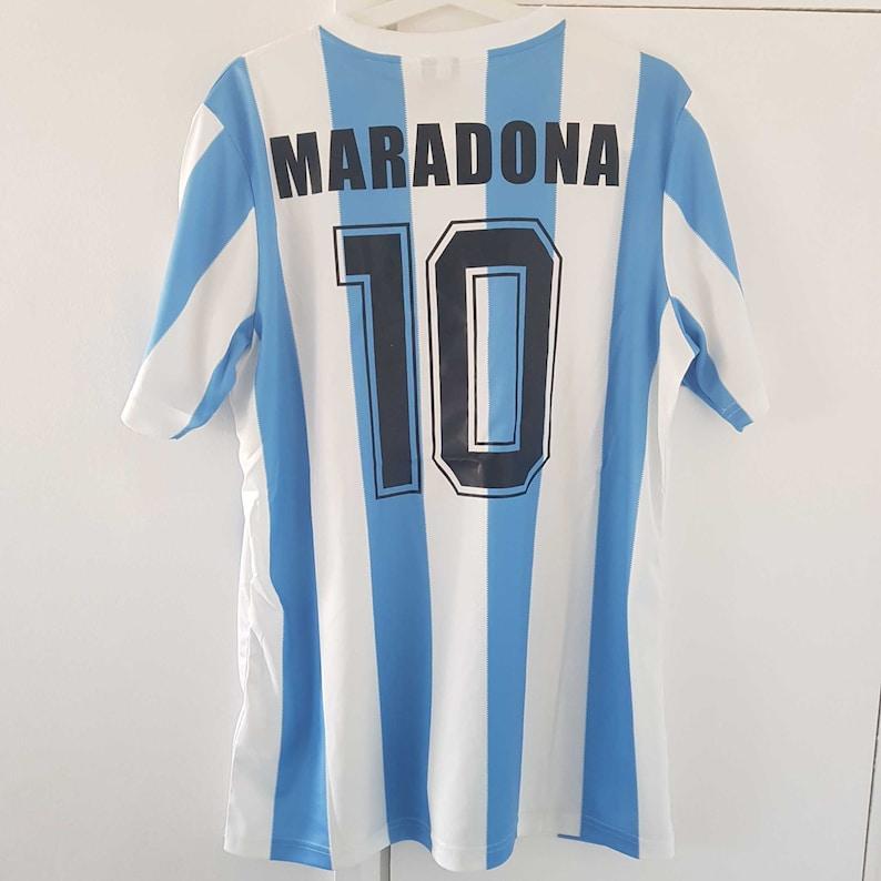 4f5590157 Argentina Soccer Jersey Maradona Shirt Vintage 1986 World Cup