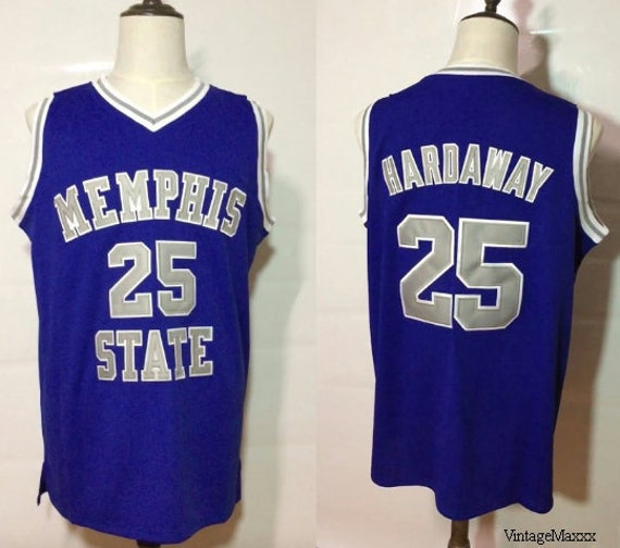 buy online f6e99 970b0 Anfernee Penny Hardaway Memphis State Tigers College Basketball Jersey  Throwback Retro University Blue Chips Orlando Magic