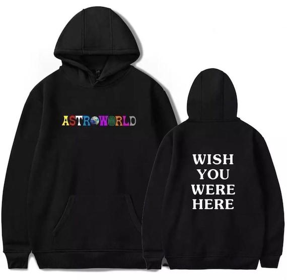 Travis Scott Astroworld Printed Hoodie Tour I Went To Astro World Album  Artist Music Merch Custom Pullover Jacket Coat Wish You Were Here