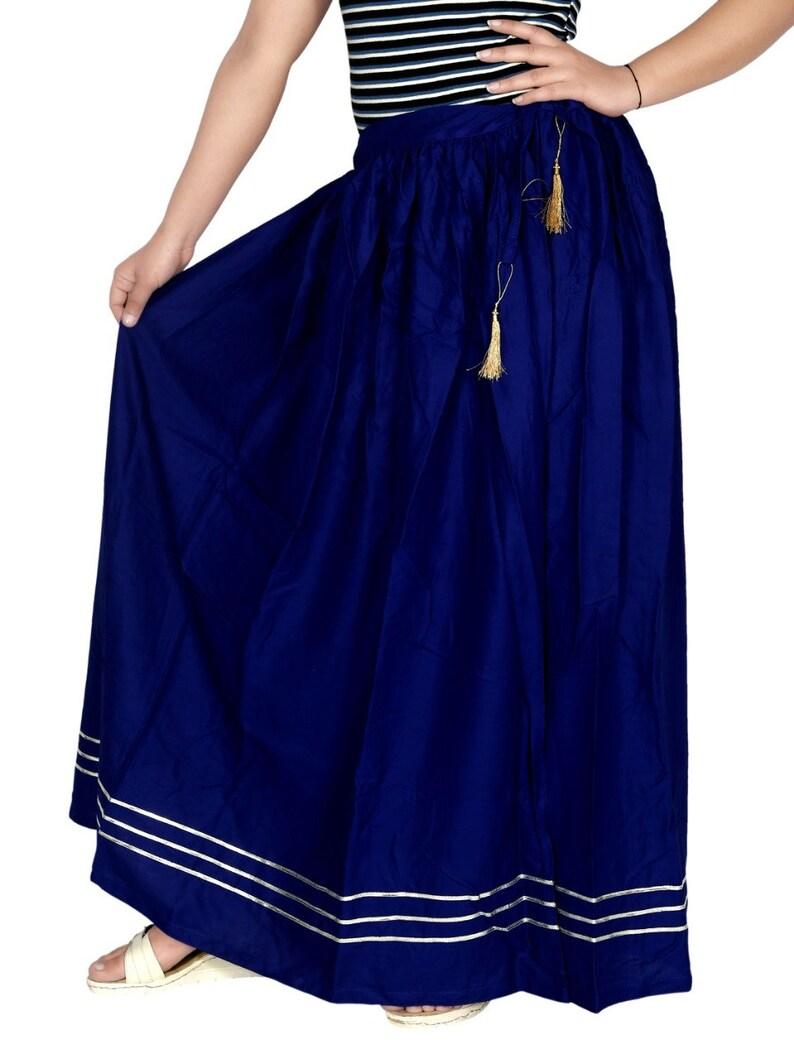Indian Royal Navy Blue Solid Skirt Diamond Lace Work Skirt Full Long Lehenga Women/'s Indian Rayon Skirt Comfortable Skirt FREE SIZE