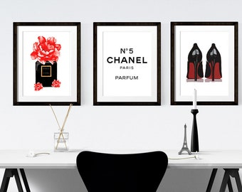 284d9e66854 Set of 3 Fashion Prints