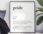Pride Definition Wall Art   LGBTQ Quote   Typography Home Decor   Minimalist Digital Interior   Elegant Design   DIY Decor