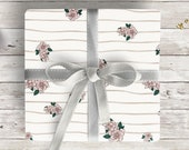 """Wrapping Paper """"Winter Florals""""   5 sheets   extra large   hand-drawn illustration   Lotti Groll Studio"""