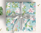"Wrapping Paper ""Summer Florals""   elegant illustration   Lotti Groll Studio"
