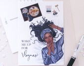 Vlogmas Postcard Print | Sassy Postcard | Sassy Art | Holiday Card | Lotti Groll Studio