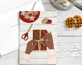 "Postcard ""Christmas Crafts""    Journaling Card   Lotti Groll Studio"